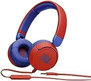 JBL JR310RED Kids wired on-ear headphones-Red, Small, JBLJR310RED