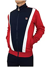e35fc32e05e Fila Vintage Grosso Track Top in Peacoat Blue/Chinese Red