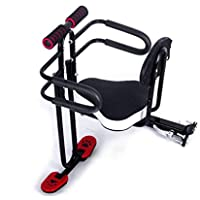 JT Fahrrad Front Kindersitz Voller Umfang Baby-Sitze Universelle Quick-Release-Falten,Black,45X30CM