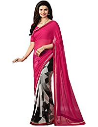 Margi Designer Sarees Georgette Festival Wear Printed Traditional Sarees With Blouse Piece