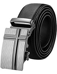 ZhuiKunA Hombre Cinturón de Piel Sintética Cinturones Con Hebilla Automática c20ef34bc629