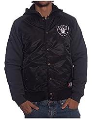 Cazadora NFL Majestic: Oakland Raiders BK
