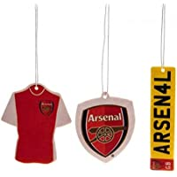 Arsenal FC Official Football Gift Air Freshener Car Accessory (3 Pack) - A Great Christmas / Birthday Gift Idea For Men And Boys
