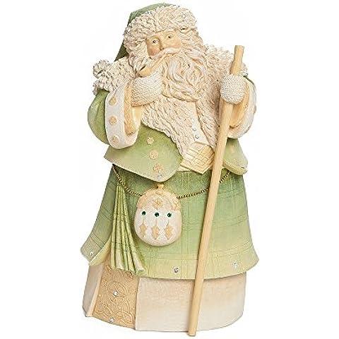 Enesco Foundations Gift Irish Santa Figurine, 7.68-Inch