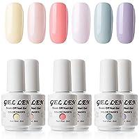 Gellen Gel Polish Set Colors of Innocence Series - Fresh Vibrant Colors Full Coverage Nail Art Kit 0.27fl oz