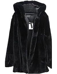 Donna Lungo Giacca Colore Solido Maniche Lunghe Elegante Cappotto Con Cappuccio
