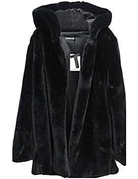 Mujer Color Sólido Abrigo Largo Chaqueta Encapuchado Calidez Manga Larga