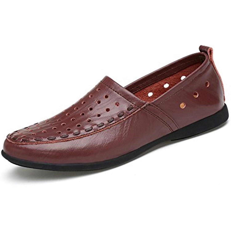 Xuanbao Chaussure de Marche Homme Mocassins en Mocassins en Mocassins Cuir Véritable Sneaker en Cuir décontracté (Color : Dark... - B07JK89NXY - 26dcd6