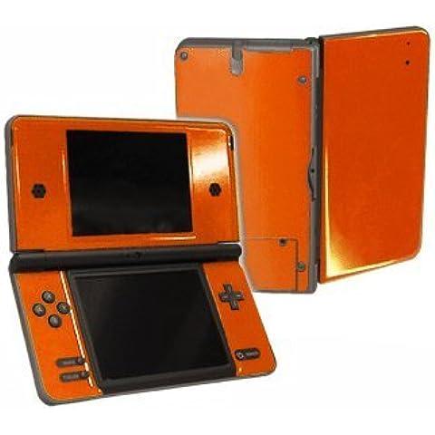 Nintendo DSi XL Color Skin (DSi-XL) - NEW - CITRUS ORANGE system skins faceplate decal mod by System Skins
