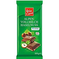 Fin Carre Alpine full milk chocolate hazelnut (10 x 100g) - German product