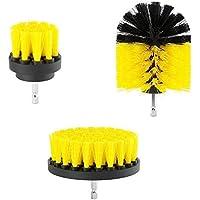 YTYCJSFH Sistema de Limpieza del depurador del Poder de la lechada del Cepillo de la Limpieza 3Pcs / Set para los taladros eléctricos Amarillos