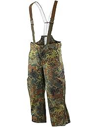 Genuine German Army Combat Waterproof Flecktarn Gore Tex Bib and Brace Trousers