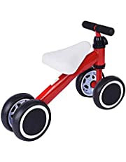 Hapsters Baby Balance Bike Walker Toys for 1 to 2 Year Old Baby Boys and Girls (Red)