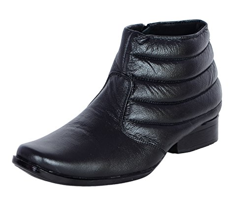 Shoebook Mens Classic Black Leather Boots