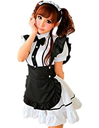 SAMGU Super Sexy Lingerie Adulte Femme Maid Pucelle Dress Serveuse Costume Cosplay Halloween