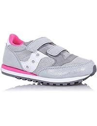 SAUCONY - Zapatilla deportiva gris con cordones, en gamuza y sintético, colorida, cómoda y de moda, Unisex-niños, niña