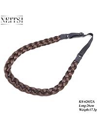 Neitsi ks62652a en línea trenzada Hair trenzada cinta trenza de grueso de pelo sintético disponible en 3colores