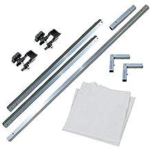Cablematic - Visera para carpa plegable de 300cm blanco toldo avance