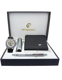 montre-concept regalo reloj hombre con lámpara de bolsillo, portefeuilles y bolígrafo referencia clplvaut2