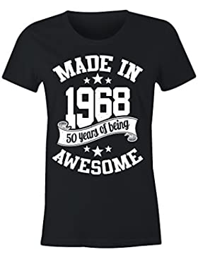 6TN Donna Made in 1968 50 Anni Of Being Stupenda t Shirt