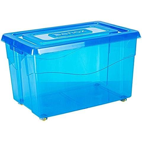Denox Mundibox - Caja con ruedas, 60 l, color azul