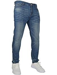 Pantaloni da uomo Slim Fit Flex in denim elasticizzato 98% cotone e 2% stretch, vita 28–40