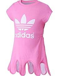 adidas Baby Mädchen (0-24 Monate) T-Shirt, Einfarbig Rosa Pink
