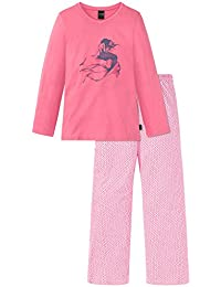 Schiesser Mädchen Zweiteiliger Schlafanzug Maritim Anzug Lang