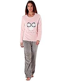 Ladies Full Fleece Winter Pyjama Set ~ Unicorn, Owl, Sweet Dreams.