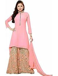 Bigben Pink Georgette Embroidery Designer Anarkali Suits