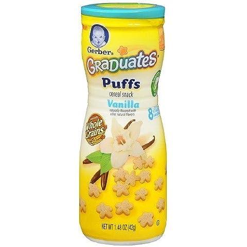 Gerber Graduates Puffs Cereal Snack, Vanilla 1.48 oz (Pack of 2) by Gerber Graduates