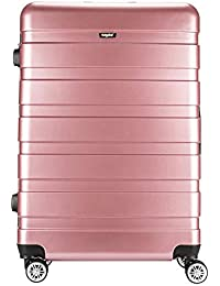 7839bfdd570853 Amasava Cabin Luggage ABS   PC Hard Shell Lightweight Travel Suitcase 4  Wheels Carry On Trolley