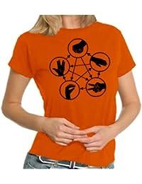Stein Schere Papier Echse Spock LADIES T-Shirt XS - XXL div. Farben