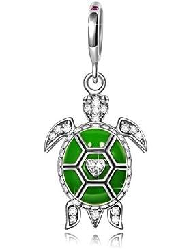 NinaQueen - Meeresschildkröte - Damen-Charm 925 Sterling Silber