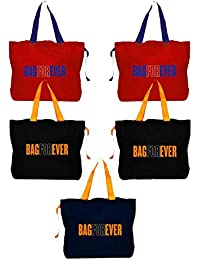 Bagforever Shopping Bag Reusable Grocery Bag Foldable Polyster Tote Long Handle Washable Large Size Heavy Duty... - B07GCJDPTP