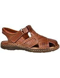 Herren Bequeme Sandalen Schuhe Mit Der Orthopadischen Einlage Aus Echtem Buffelleder Hausschuhe Modell 867