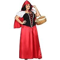 Atosa - Disfraz largo caperucita, color rojo, XXL (31488)