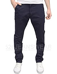 Eto Mens Designer Branded Tapered Fit Stretch Chinos, Available in 5 Colours