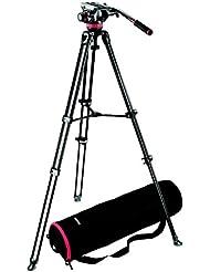 Manfrotto MVK502AM - Trípode telescópico para cámaras de vídeo y cámaras digitales, negro