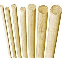 5x Rundstab Rundstäbe Holzdübel Dübel Holz BUCHE 12 x 1000 mm glatt