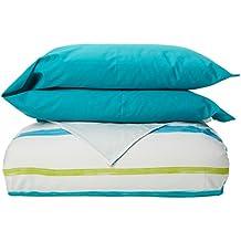 Reig Martí Lucca - Juego de funda nórdica estampada, 3 piezas, para cama de 150 cm, color turquesa