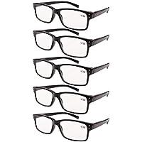 bdded2aa23 Eyekepper 5-pack Spring Hinges Vintage Reading Glasses Men Readers Black  +2.0