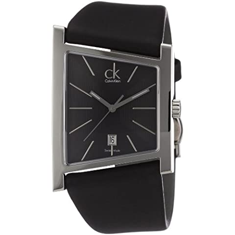 Calvin Klein District K0Q21107 - Reloj de mujer de cuarzo, correa de piel color negro