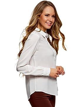 [Patrocinado]oodji Ultra Mujer Blusa Básica de Viscosa