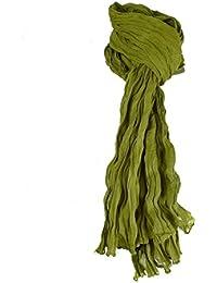 8ebcbc2fa24 La Boutik de Satyam - Chèche Echarpe Homme Femme Coton Uni - Vert Clair