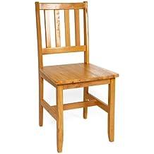 2 sillas de madera, fuertes, para café, bistro, comedor, restaurante y bar