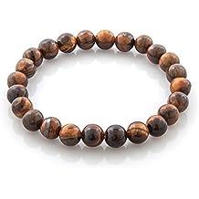 HooAMI Bracelet Prière Bouddhiste Chapelet Bracelet Perle En Oeil de tigre  Unisexe Charme Bijoux Pour Homme