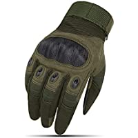 YXZN Guantes Full Finger Hombres Y Mujeres Antideslizantes Al Aire Libre Tactical Sports Riding Equipment,Green,M