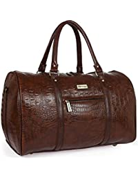 Fur Jaden Brown Textured Leatherette Stylish   Spacious Weekender Duffle Bag  for Travel for Men and 51c2f81920e0e
