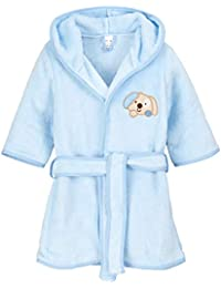 BlueberryShop Embroidered Luxurious Hooded Soft Warm and Fluffy Fleece Bathrobe, Robe, Dressing Gowns 1